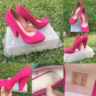Pink Suede Forever 21 Shoes