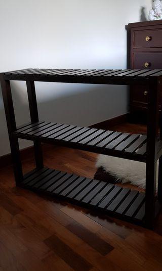 🚚 Dark Brown Shelf/Rack