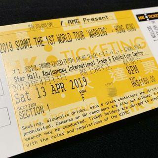 Sunmi 宣美 香港演唱會VIP第六行門票