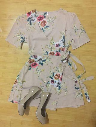 Bnew Floral Wrap Mini Dress