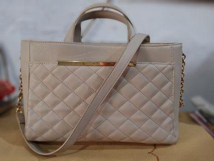 Zalora Quilted Front Career Totebag