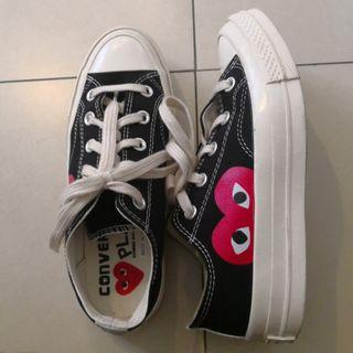 Insp CDG x Converse Sneakers in Black