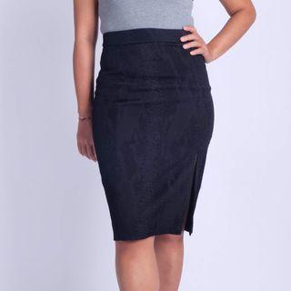 ALTUZARRA Phyton embossed pencil skirt