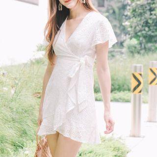 white eyelet dress