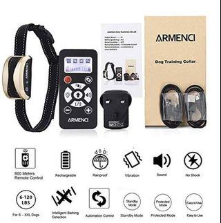 (E1239) Dog Training Collar with Remote - Rechargeable Smart Bark Collar - Rainproof E-Collar, 3 Modes - Beep, Vibration and Automation, Adjustable Levels, 800 Yards, NO SHOCK, Easy to Use