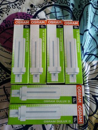 [BNIB] Osram Dulux D 13W 2 pin lamps