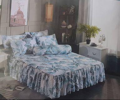 Bedsheets set skirting promo sale