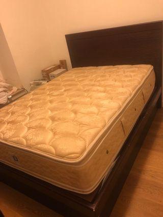 床架連床褥 mattress and bed with storage