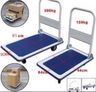 Ready stock - 150/300Kg Foldable Platform Metal Hand Truck Trolley