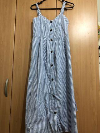 🚚 Striped blue dress