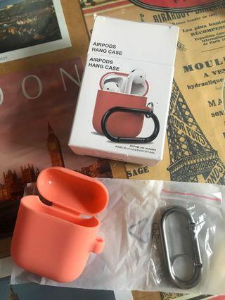 airpods hang case peach 橙粉色保護套