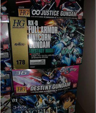 [WTS] Built Gundam Model kits