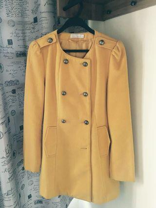 Yellow winter coat Love Bonito