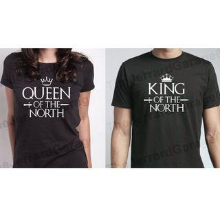King & Queen Of The North Couple T-Shirt (Fan Art)