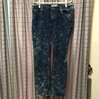 🚚 XL 雪花牛仔褲
