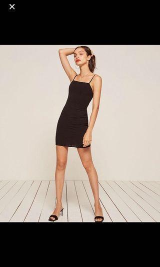 🚚 authentic reformation black dress lbd