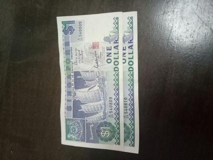 🚚 Singapore $1 note