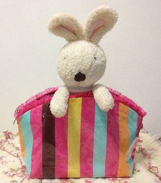 🚚 Cute Strip cosmetic bag