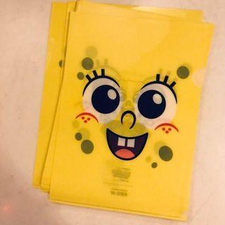 < 三件包郵 >A4 size海綿寶寶 spongebob file x12