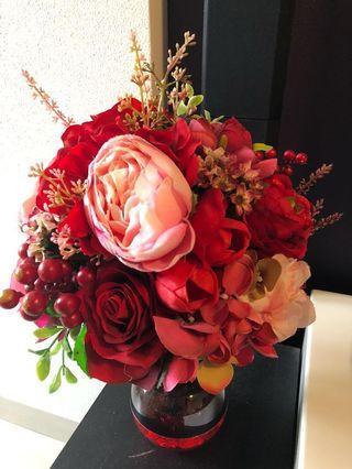 結婚 花球 花束 玫瑰 膠花