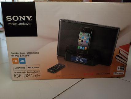 Sony Speaker Dock/Clock Radio