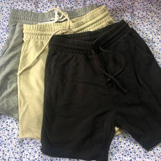 [Size S] 3 for $30 H&M Sweat shorts