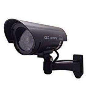 (E1253) Outdoor Waterproof Fake/Dummy Security Camera with Blinking Light (Black)