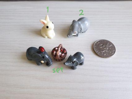 Terrarium figurines cute animals
