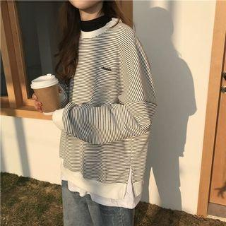 Two Piece Stripe Long Sleeved Sweater