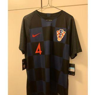 Size M 2018 Croatia World Cup Jersey Away - Perisic #4 Printing