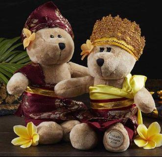 Exclusive Starbucks Dewata Bearista with traditional Balinese outfit