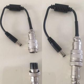 convert 3pin to 1pin connector for escooter charger