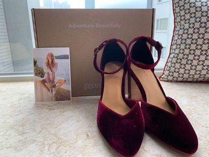 BRAND NEW Soludos Red Velvet d'Orsay-Style Heel