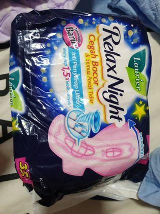 🚚 Laurier relax night sanitary pads 35 cm