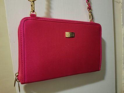 Naraya pink handbag 桃紅色薄手袋