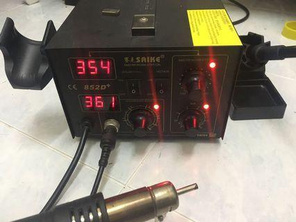 Digital Soldering and hot air station Rework station