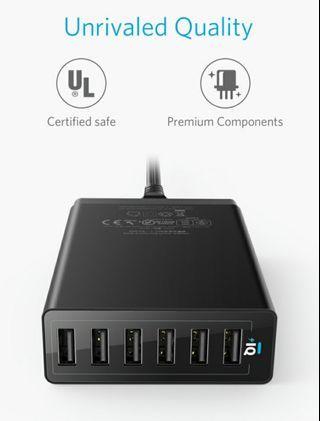 🚚 ANKER 6 port USB charger
