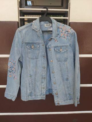 New Look Denim Spring Jacket with Embroidery and Beads