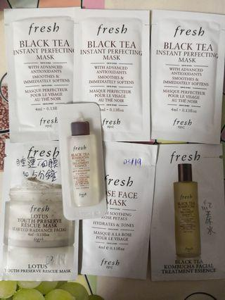 Fresh black tea essence, lotus mask, rose mask