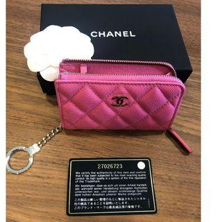 🚚 Pink Caviar GHW Chanel Key Holder in Pink