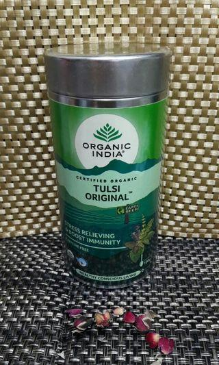 Organic India Tulsi Original 印度圖爾西聖羅勒茶,不含咖啡因,有機天然