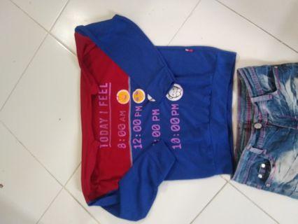 Set kaos n jeans anak perempuan