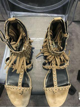 Saint Laurent Fringe Sandals - New and Unworn