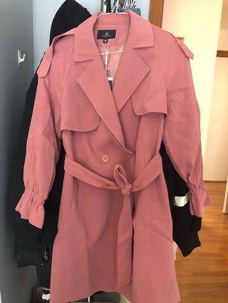 Fanqin women petite trench coat