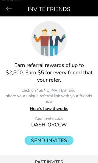 Dash referral get $5 off on first ntuc, sheng shiong transaction