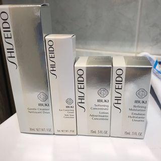 Shiseido Ibuki travel skincare set