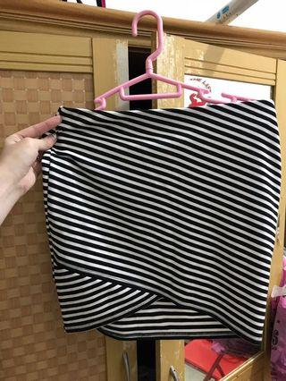 Zara Trf Stripes Skirt