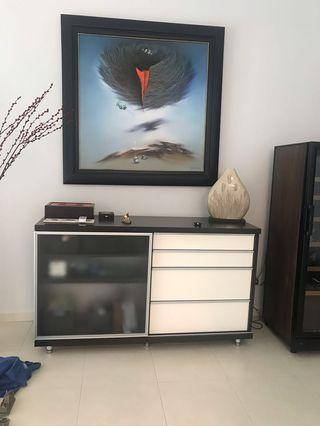TV Cabinet with sliding door drawer #EndgameYourExcess