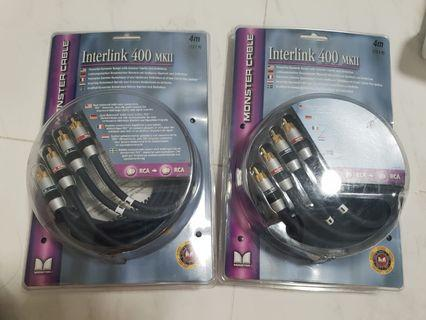 Monster RCA Cable, Interlink 400 MKii