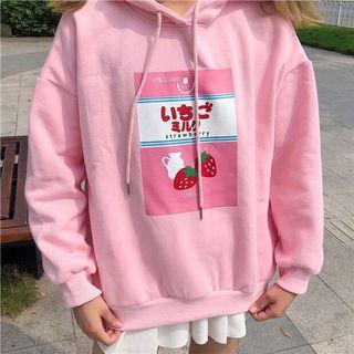 Strawberry Milk Cotton Japanese Hoodie